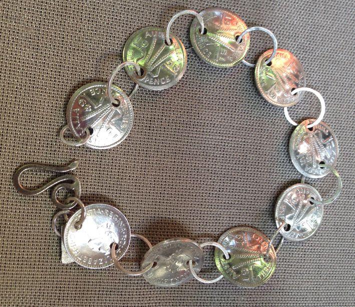 #vetroemetallo threepence and stg silver bracelet - sold at the @BusDepotMarkets