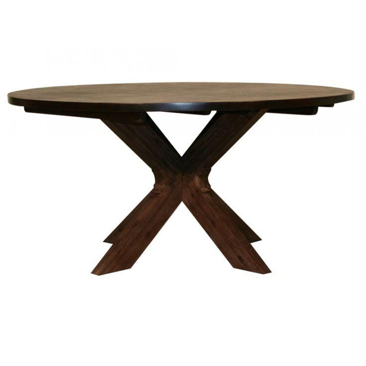 Lava matbord runt brunbetsad acacia