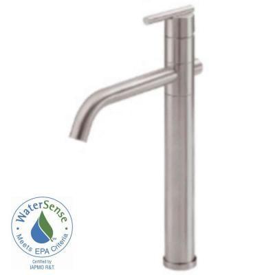 danze parma single hole 1handle higharc bathroom vessel faucet in brushed nickel