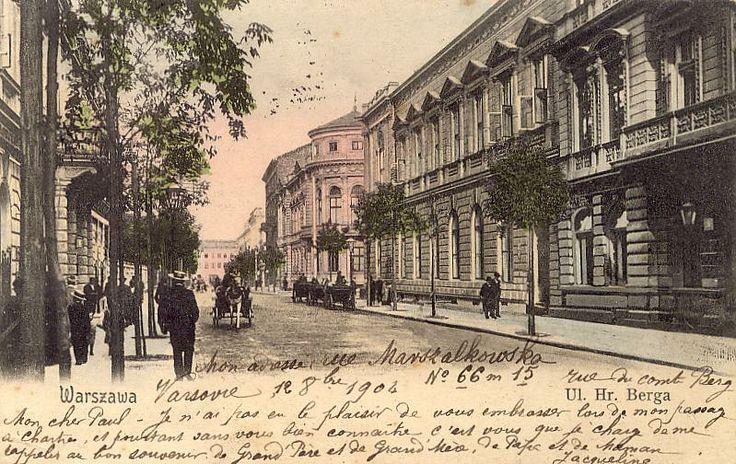 Warszawa ul. Berga Rzepkowicz R Warsaw Vintage postcard, Alte postkarte aus Warschau, stara pocztówka