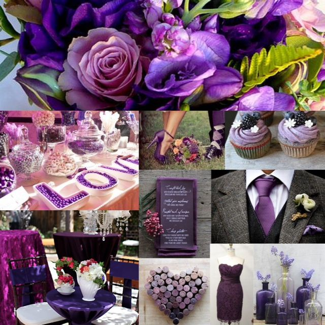 WEDDING INSPIRATION: Purple is Passion! With the variety of shades of purple brides are loving adding it to their color scheme.