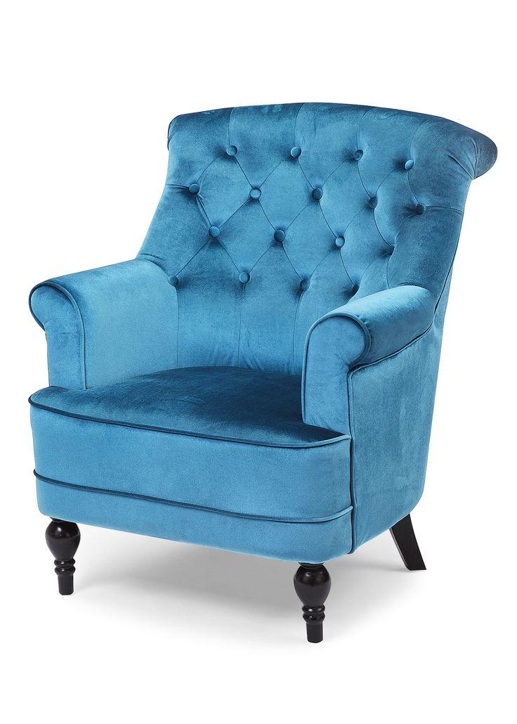 """Sessel """"Christy"""" blau - bpc living jetzt im Online Shop von bonprix.de ab ? 249,99 bestellen. Schicker Sessel in kräftigen Farben, ein Hingucker in jedem ..."""