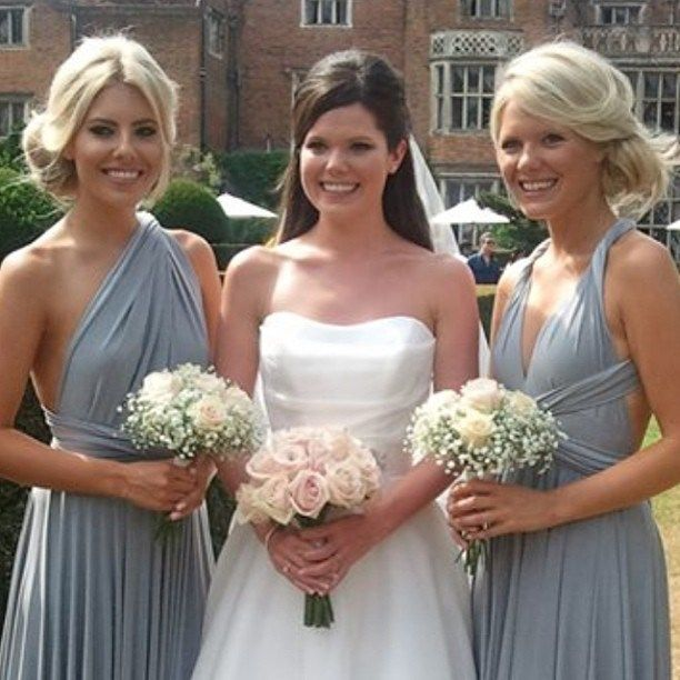 Grecian style thats simple and flattering - Mollie King Bridesmaid dress