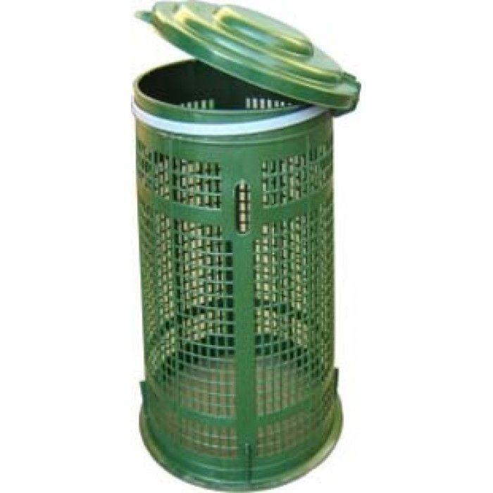 Trespolo per rifiuti plastica 110 lt