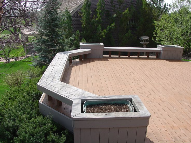 Custom Cedar Deck With Built In Benches U0026 Planter Boxes