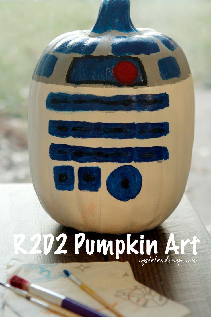 Star Wars R2D2 Pumpkin Art