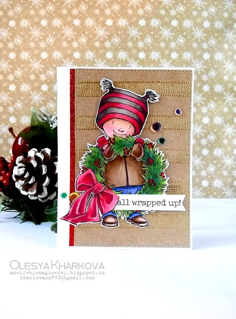 As if by magic by Olesya Kharkova: All wrapped up! | Christmas card