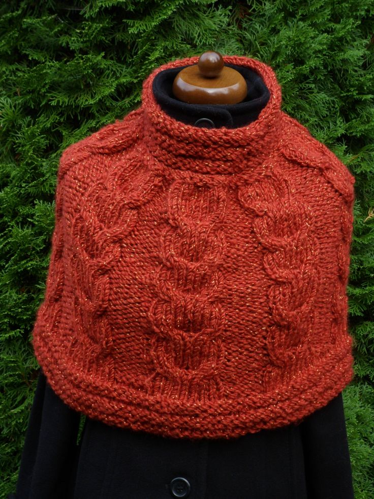 Knit Womens Orange Poncho, Girls Loop scarf, Shoulder Warmer, Neck warmer, Spring Accessories, Hand knit Little poncho, Mother's Day Gift #etsy #giftideas #chunkyknitscarf #poncho