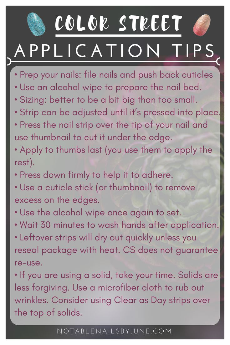 Tips To Get Your Best Manicure With Color Street Color Street Nail Polish Strips Are Easy To