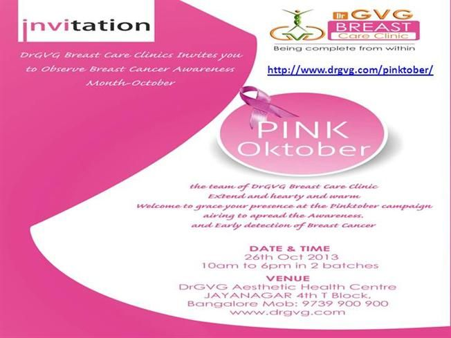 Breast Cancer Awareness Program in Bangalore By DrGVG by qwaszxq via authorSTREAM