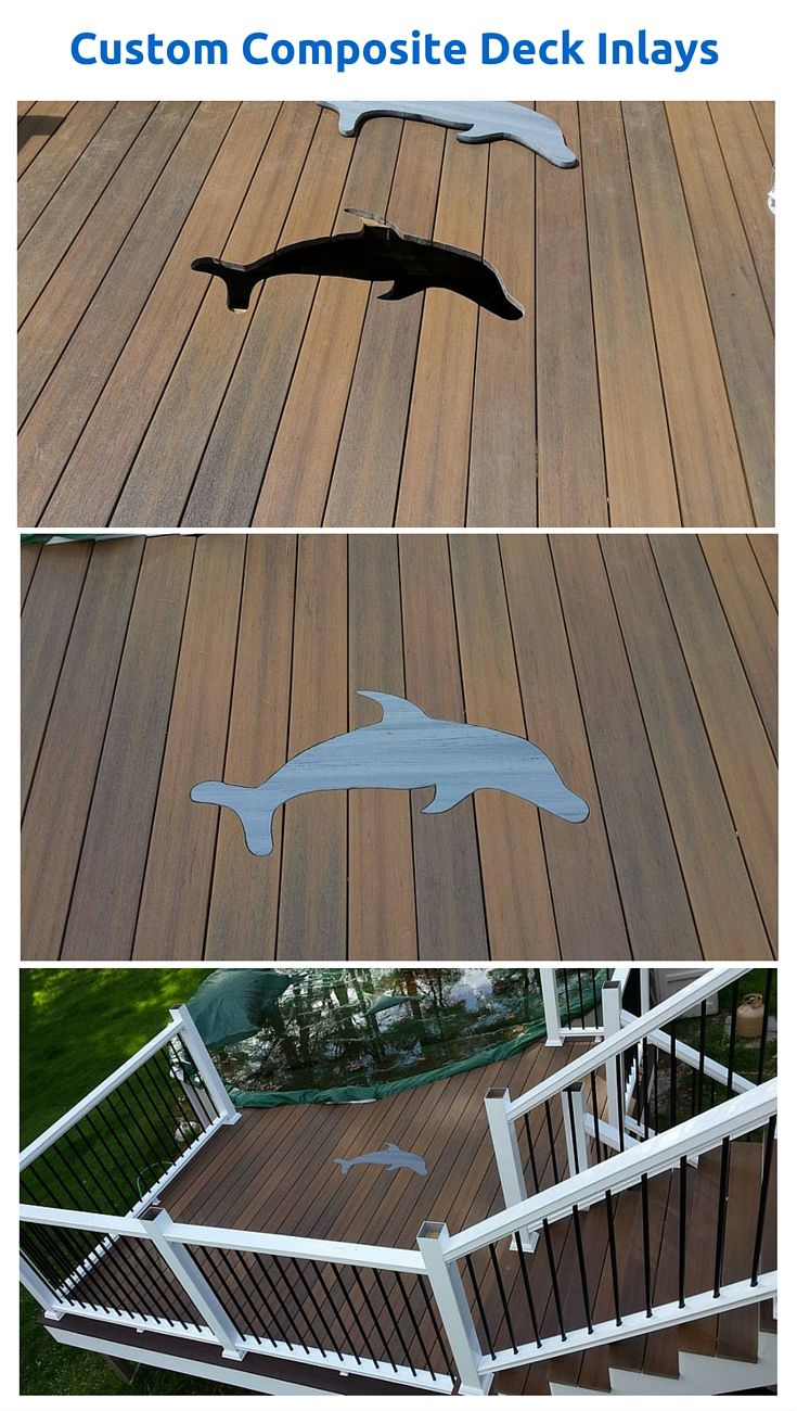 587 best deck inspiration images on pinterest backyard decks custom inlays are all the rage as homeowners look for ways to make their deck or baanklon Image collections
