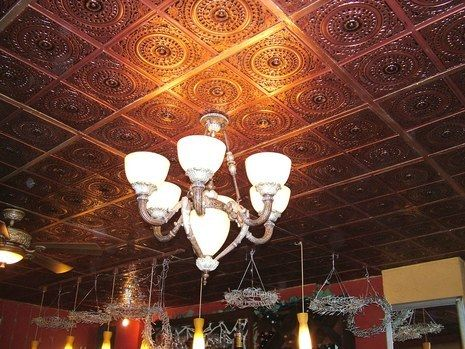 bad looking stained old drop ceilings faux tin ceiling tiles is the perfect solution - Faux Tin Ceiling Tiles