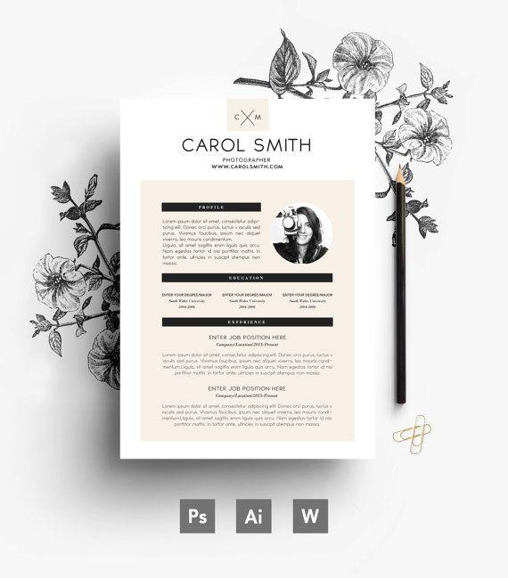 custom resume   easy editable 3 page resume   custom cover