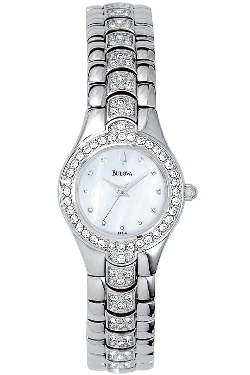 Bulova Ladies Crystal Watch 96T14