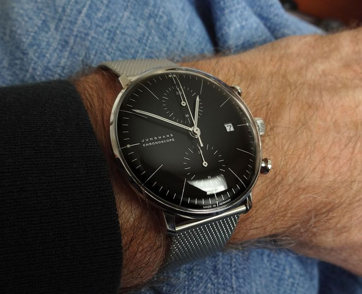 Junghans Max Bill Chronoscope. ~$2K. Tried this on and was turned off by the lack of second hand.