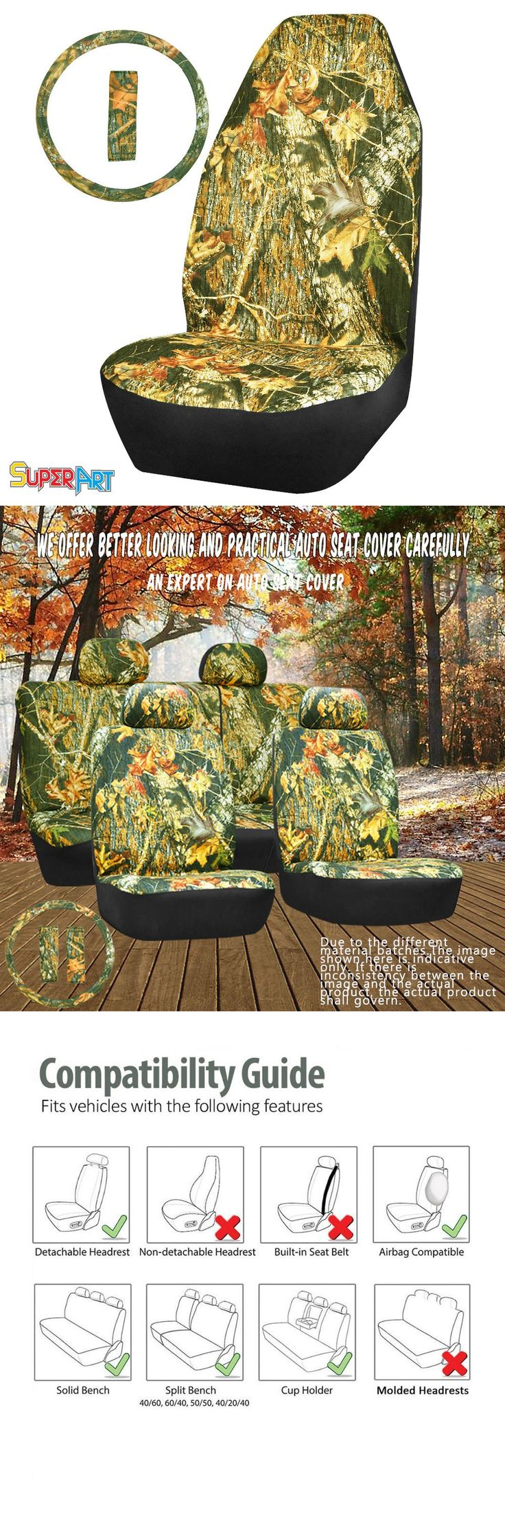 [Visit to Buy] Universal Car Seat Covers  Fit For Car Truck Suv or Van  (Real Tree Camouflage) Car Styling  New Airbag Compatible SUPERART #Advertisement