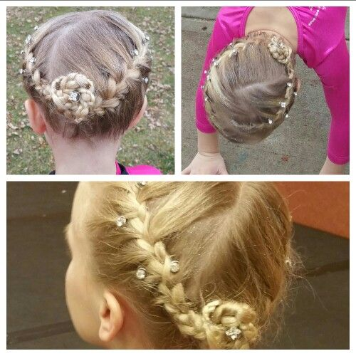 25 Best Gymnast Hairstyles For Meets Images On Pinterest
