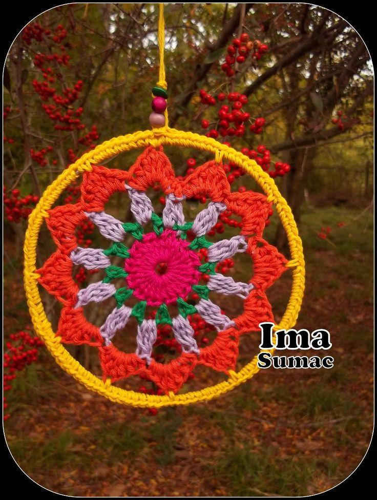 mandalas tejidas al crochet. artesanales