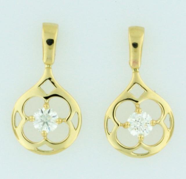 0.80ctw Hearts on Fire Diamond Copley 18K Yellow Gold Large Circle Earrings