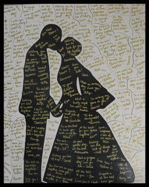 Guest Book Puzzle, 40-90 pieces -- Bride & Groom (16x20 inches). $115.00, via Etsy.