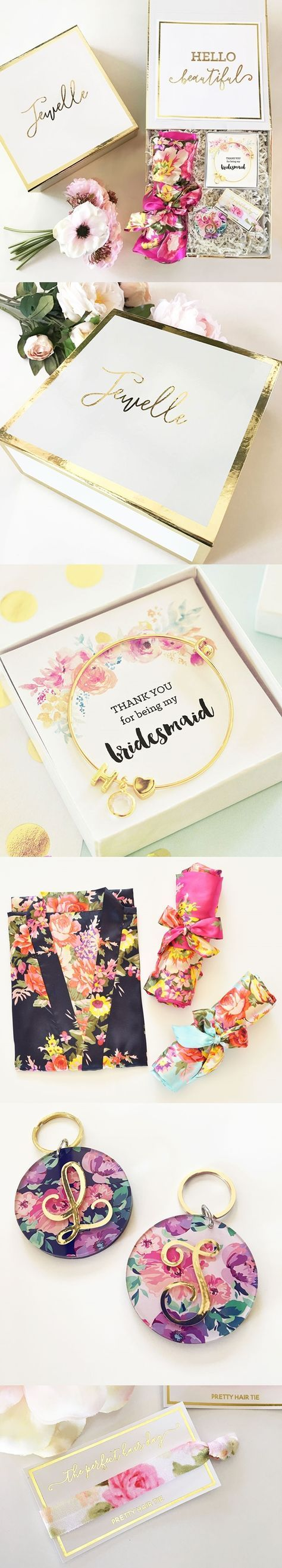 Thank You for Being My Bridesmaid Gift Set in Personalized Gift-Box | Personalized Gifts and Party Favors