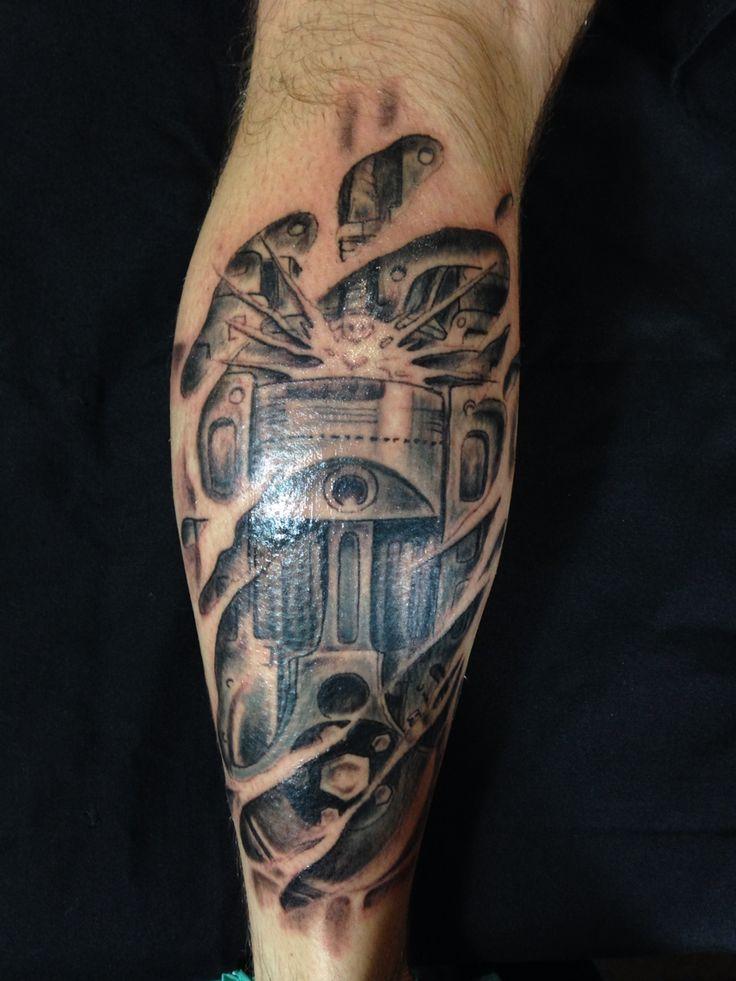 60 Piston Tattoo Designs For Men - Unleash High Horsepower