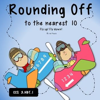 Rounding off to the nearest 10 PowerPoint & Worksheet  {Mi