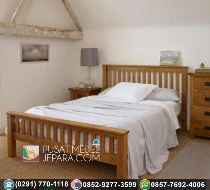 Tempat Tidur Minimalis Jepara Jati