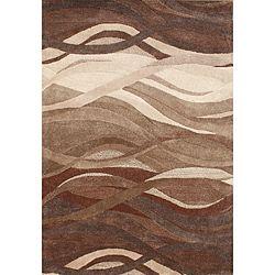 Alliyah Handmade Metro Clic Brown Wool Area Rug X