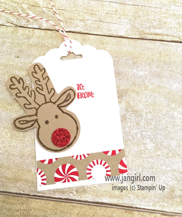 Stampin' Up Cookie Cutter Christmas tag