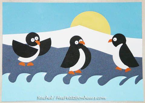 Enfants – Bricolage d'hiver : Pingouins ou manchots sur la banquise