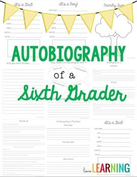 Memory books autobiography project and fast finishers on pinterest