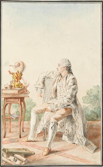 Monsieur de Buchelay, fermier general, 1758 by Louis Carrogis Carmontelle (1717-1806) (Chantilly)