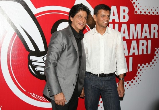 Shahrukh Khan and Rahul Dravid at Opening Ceremony of TUCC.