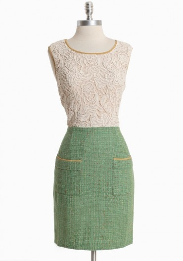 from Ruche: Colors From, Tweed Dress, Pump