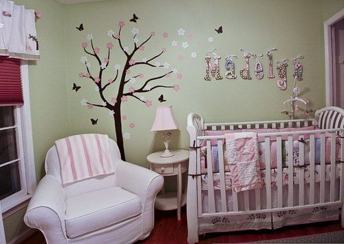 71 best ideas about letter decor on pinterest painted for Above the crib decoration ideas