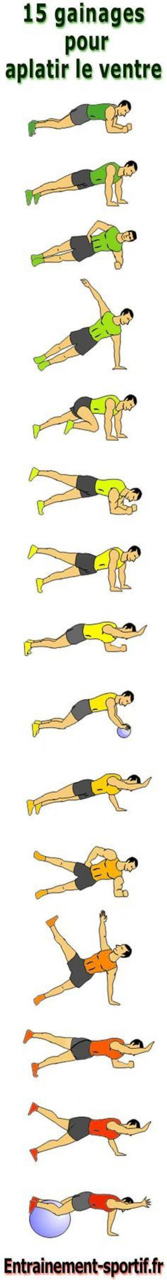 Programme #Musculation de 15 exercices faciles à faire chez soi pour perdre du #ventre en ...