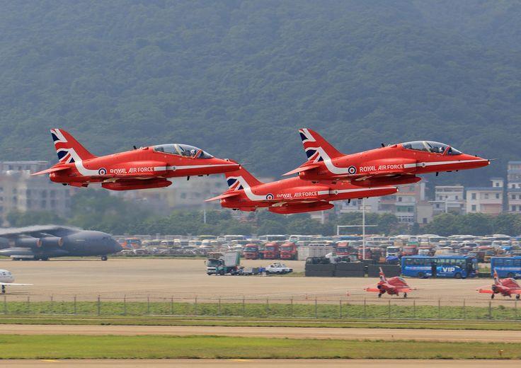 https://flic.kr/p/NGgVSy | Red Arrows - RAF /  Hawk T1A  @ Airshow China 2016 Zhuhai