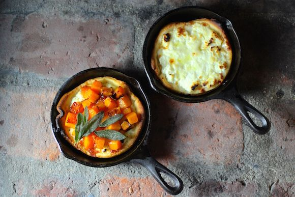 How to Make Ricotta Mini #CastIronSkillet #Pizzas with Butternut Squash, Agave Syrup, Fried Sage