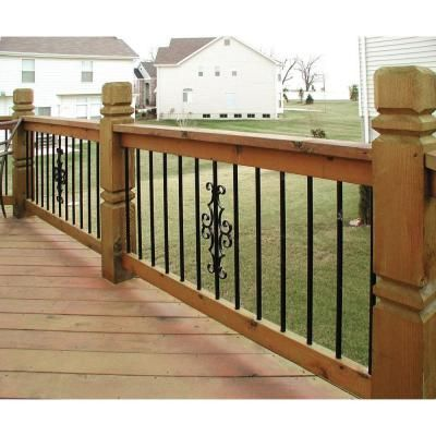 Best 3 4 In X 26 In Black Aluminum Round Baluster 15 Pack Rounding 400 x 300