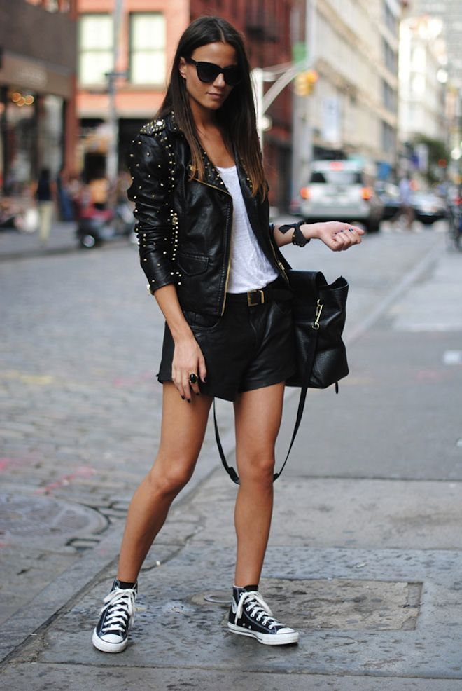 Repinned: Love this look! Converse street style 2014