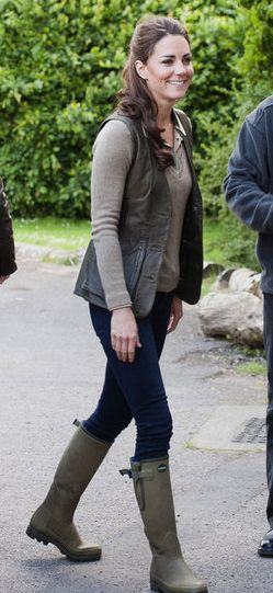 Kate Middleton | Casual Style. Kate looks fantastic in her boots and vest. I am sooo glad she is the princess!