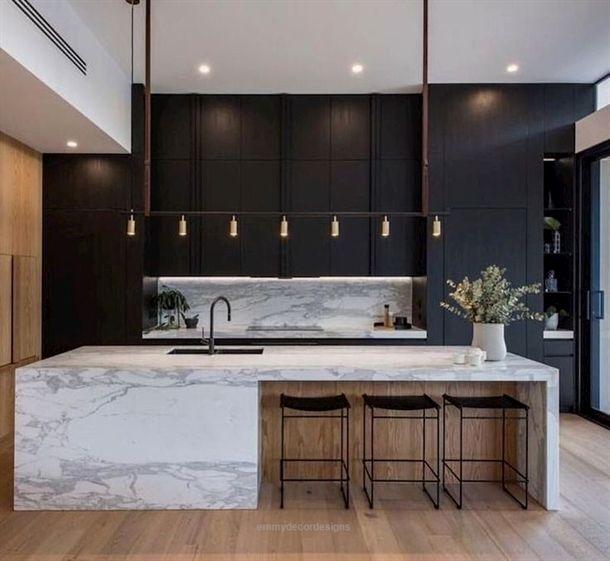 46 The Best Minimalist Kitchen Design Ideas To Avoid Boredom In Your Home Petrolhat Com Emmy S Designs Minimalist Kitchen Design Dream Kitchens Design Modern Kitchen Island Design