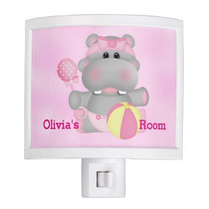 Kid's Night Lite Cute Baby Hippo - baby gifts child new born gift idea diy cyo special unique design