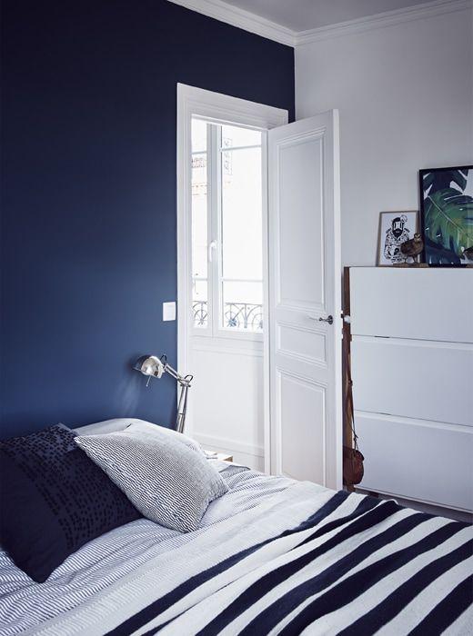 Hochwertig Ein Schlafzimmer In Blau Und Weiß, U. A. Mit FORSÅ Arbeitsleuchte  Vernickelt | Erste Wohnung | Pinterest