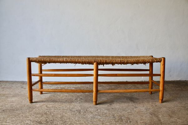 Mid Century French Wicker Bench 4 Bench Benches For Sale Wicker