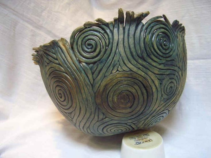 244 best clay coils spirals images on pinterest coil for Pottery designs with clay