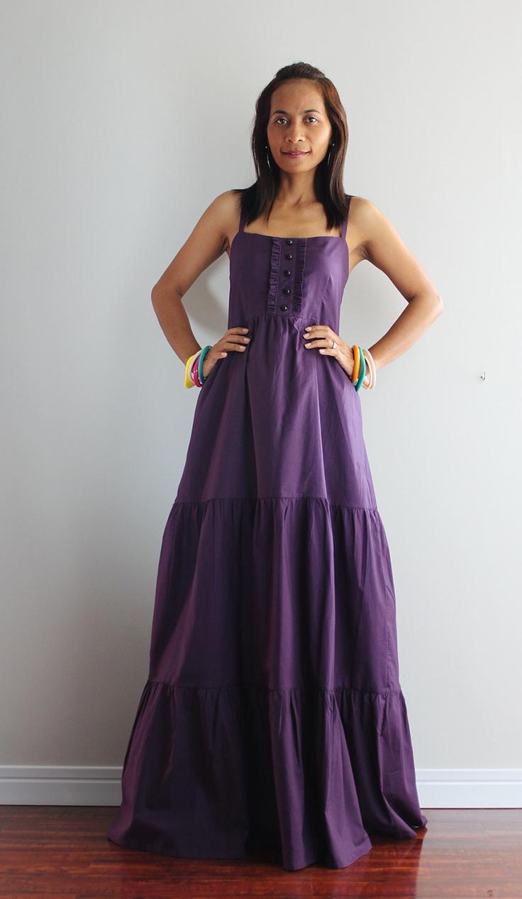 RESERVED Long Purple Dress