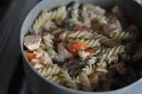 Food pour vous: Паста с лососем и спаржей в сливочном соусе