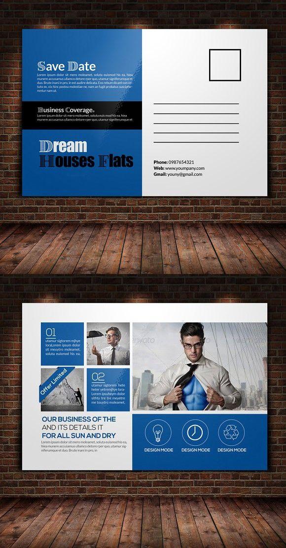 Business Postcard Template Graphic Design Business Postcards